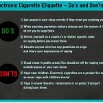 電子タバコのエチケット<注意点>